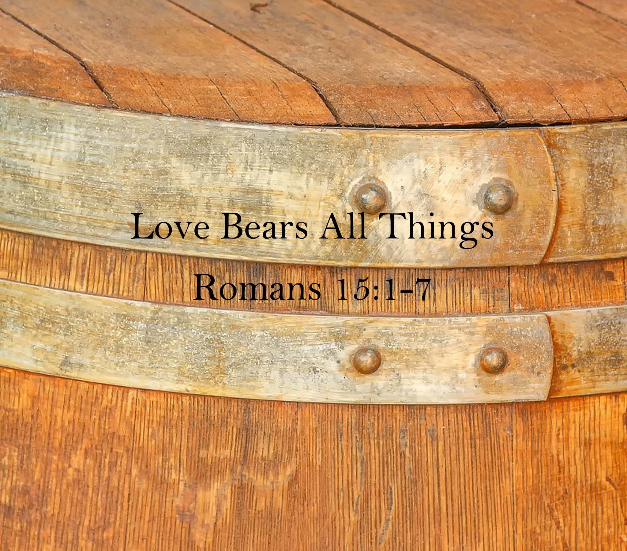 Sermon: Love Bears All Things Romans 15:1-7